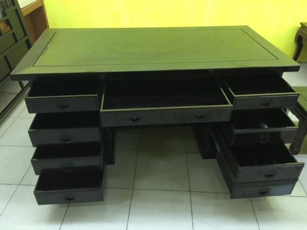 正黑檀木主管桌 黑檀木老闆桌 頂級物件稀有 會議桌 方桌 會議桌 4