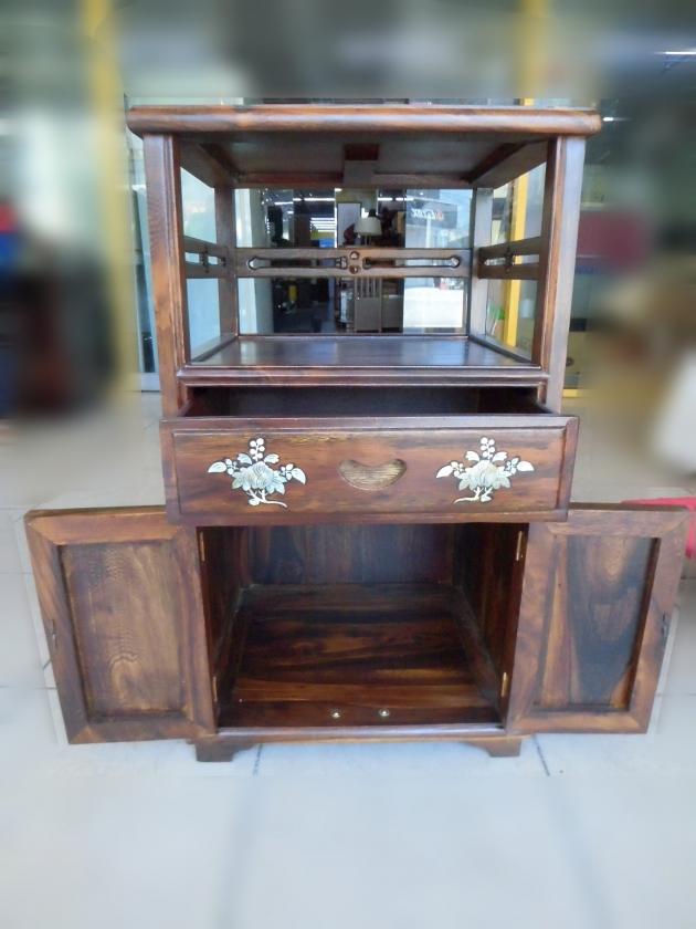全新仿古雞翅木鑲貝造型電話櫃 角落櫃 置物櫃 收納櫃 邊桌 2