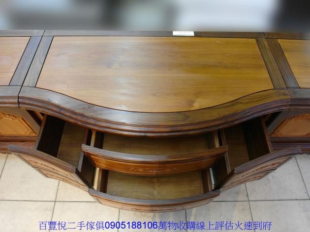 仿古黑檀柚木十尺全實木電視櫃TV櫃矮櫃置物收納櫃櫥櫃 3