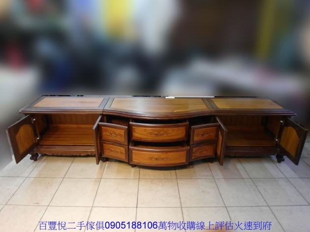 仿古黑檀柚木十尺全實木電視櫃TV櫃矮櫃置物收納櫃櫥櫃 2