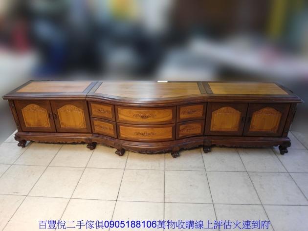 仿古黑檀柚木十尺全實木電視櫃TV櫃矮櫃置物收納櫃櫥櫃 1