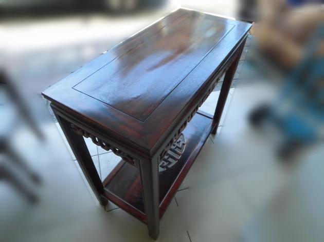 全新仿古雞翅木方形高花架 藝品架 電話架 盆栽架 展示架 2