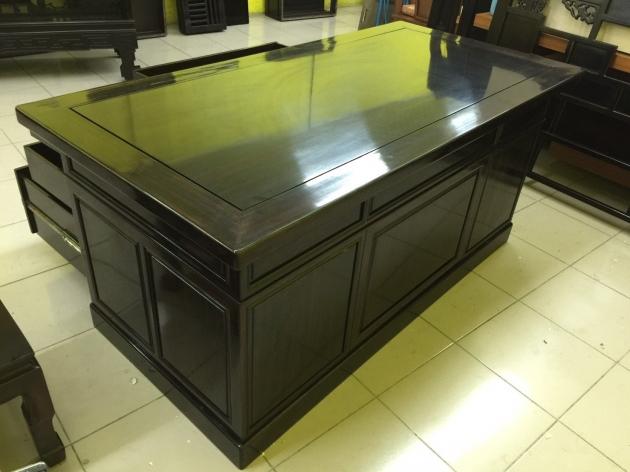 正黑檀木主管桌 黑檀木老闆桌 頂級物件稀有 會議桌 方桌 會議桌 2