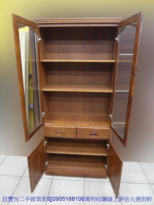 新品柚木全實木80公分2抽書櫃書櫥雜誌架收納櫃屏風櫃 1