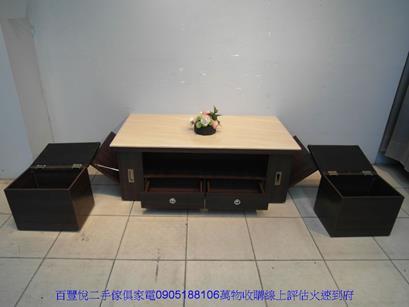 二手咖啡色皮面鐵腳餐桌椅洽談椅休閒椅等候椅咖啡營用吃飯椅 2