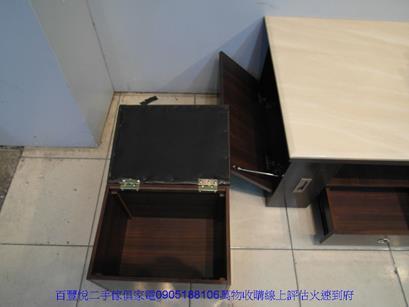二手咖啡色皮面鐵腳餐桌椅洽談椅休閒椅等候椅咖啡營用吃飯椅 4