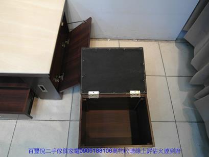 二手咖啡色皮面鐵腳餐桌椅洽談椅休閒椅等候椅咖啡營用吃飯椅 5