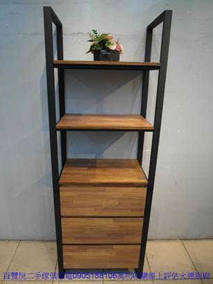 二手胡桃色56公分2抽床邊櫃矮櫃抽屜櫃置物櫃櫥櫃收納櫃儲物櫃 2