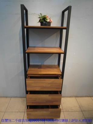 二手胡桃色56公分2抽床邊櫃矮櫃抽屜櫃置物櫃櫥櫃收納櫃儲物櫃 3