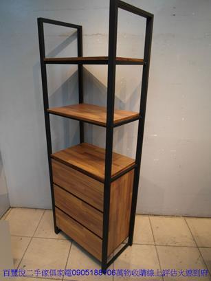 二手胡桃色56公分2抽床邊櫃矮櫃抽屜櫃置物櫃櫥櫃收納櫃儲物櫃 4