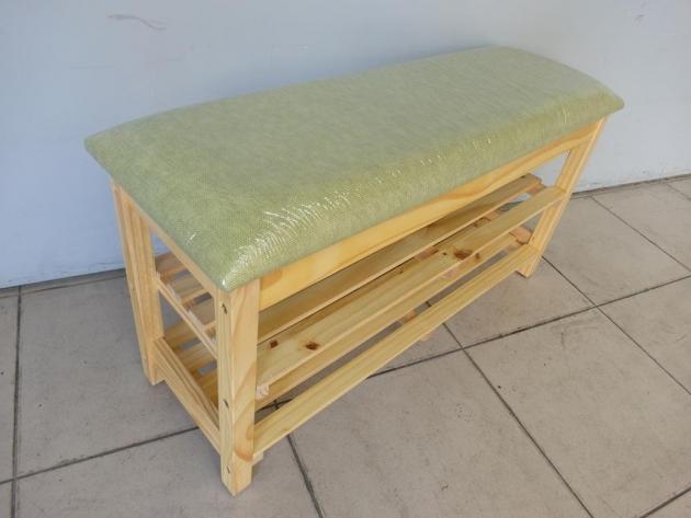 新品綠色皮面實木雙層穿鞋椅 座鞋櫃拖鞋架玄關椅穿鞋櫃 3