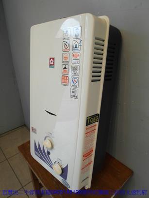 二手熱水器中古SAKURA櫻花牌10公升屋外抗風天然氣專用熱水器 3