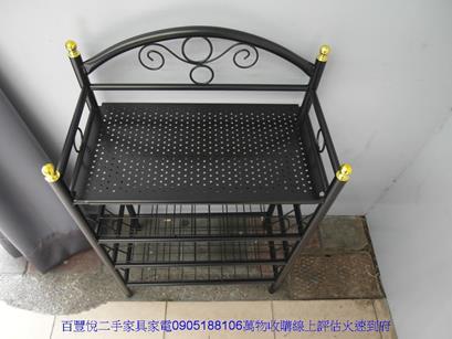 新品黑色鐵製四層拖鞋架玄關置物櫃鞋叉架穿鞋櫃收納矮櫃 2