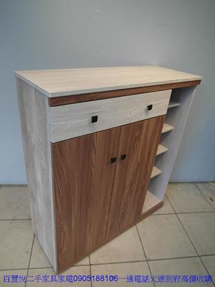 新品北歐風雙色3.5尺鞋櫃玄關櫃收納櫃鞋櫥邊櫃拖鞋櫃 4