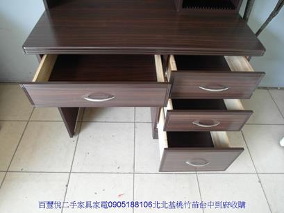 二手書桌二手胡桃色3.5尺書桌櫃學生寫字桌電腦桌讀書桌房間孩童桌 4