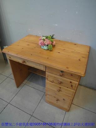 二手書桌二手松木實木96公分書桌電腦桌寫字桌學生桌 租屋套房桌椅 2