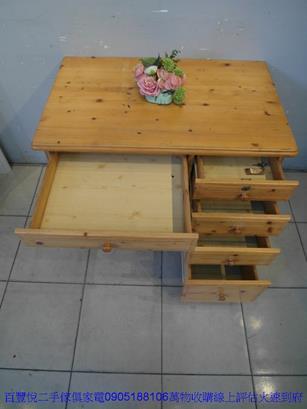 二手書桌二手松木實木96公分書桌電腦桌寫字桌學生桌 租屋套房桌椅 4
