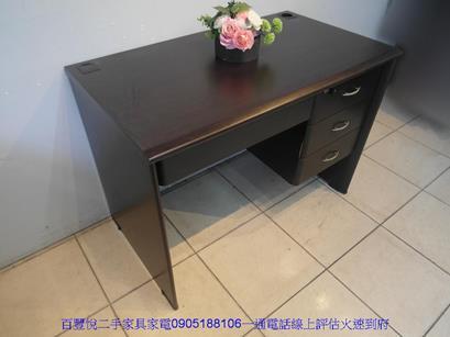二手胡桃色3.5尺四抽書桌電腦桌工作桌學生桌辦公桌椅 4