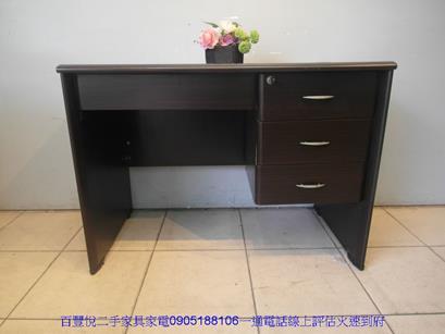 二手胡桃色3.5尺四抽書桌電腦桌工作桌學生桌辦公桌椅 5