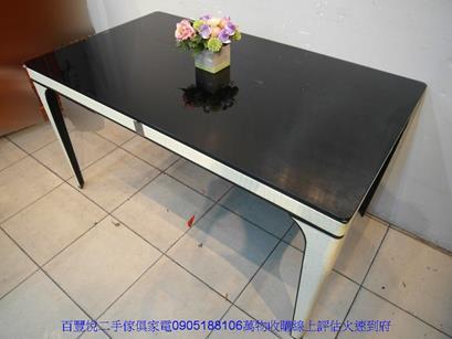 二手胡桃色122公分4抽1門碗盤收納餐櫃玄關置物櫃 5