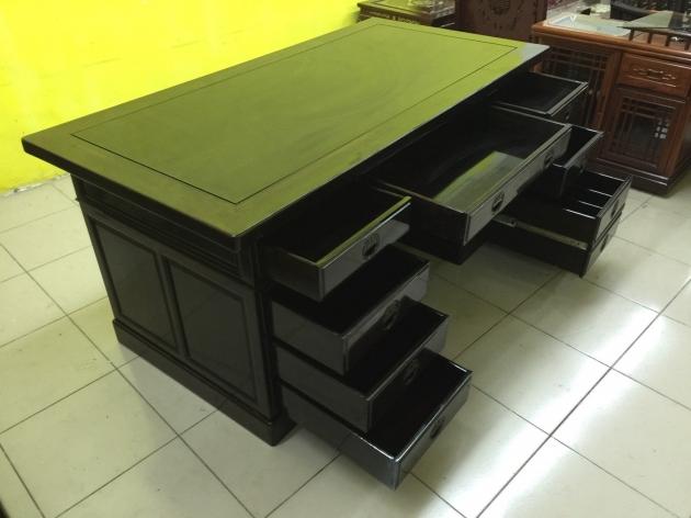 正黑檀木主管桌 黑檀木老闆桌 頂級物件稀有 會議桌 方桌 會議桌 3