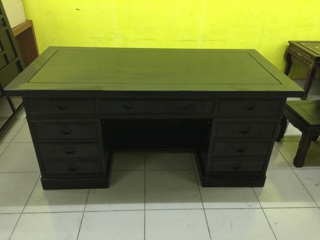 正黑檀木主管桌 黑檀木老闆桌 頂級物件稀有 會議桌 方桌 會議桌 1