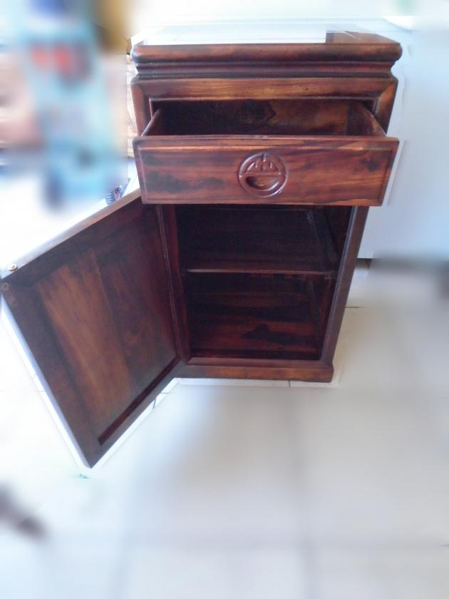全新仿古雞翅木一抽一門電話櫃 角落櫃 置物櫃 收納櫃 邊桌 2