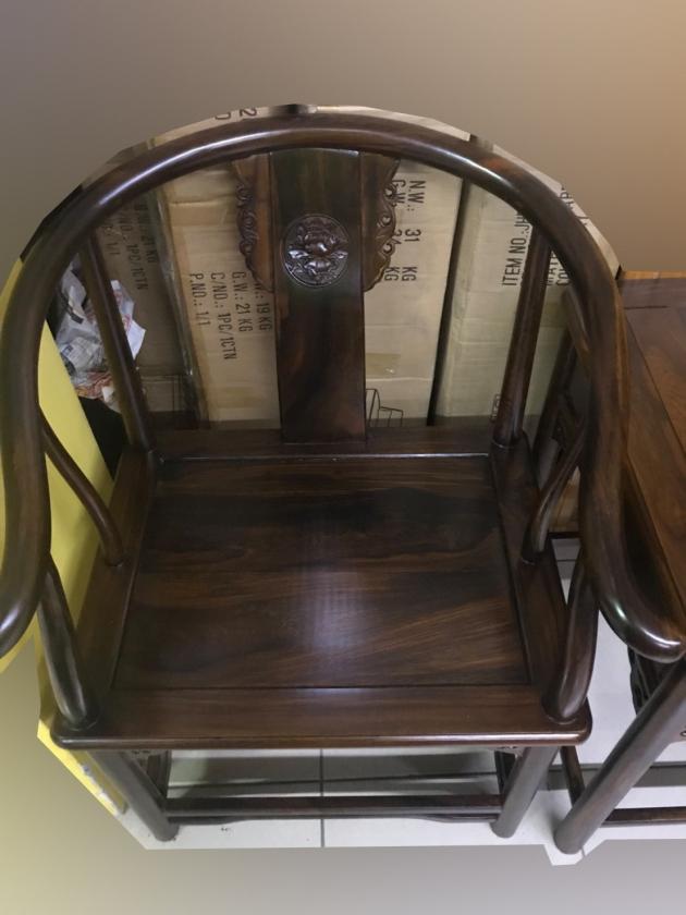 全新庫存雞翅木全實木仿古一桌二椅客廳組椅 公婆椅 太師椅 3