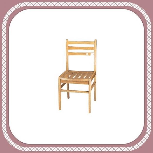 全新出清40公分原木色實木餐椅 吃飯會客椅工作學生椅 1