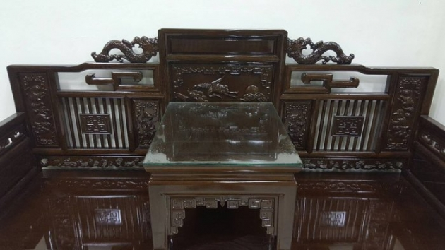 正日據時代雞翅木 羅漢床 羅漢椅 7000年以上虎斑紋 鴉片床 原木家具 2