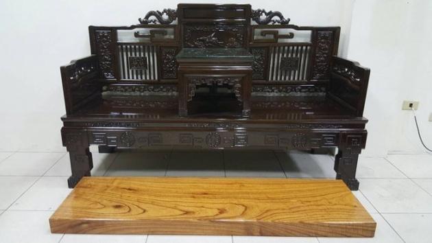 正日據時代雞翅木 羅漢床 羅漢椅 7000年以上虎斑紋 鴉片床 原木家具 1