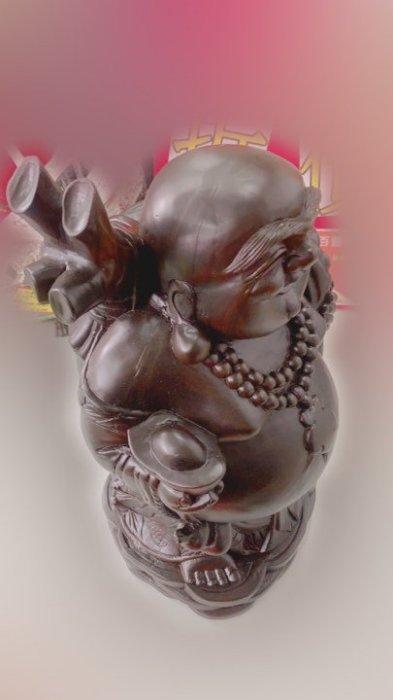 印尼黑檀彌勒佛木雕藝術品 擺飾品裝飾品招財進寶 2