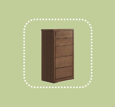 新品出清2尺實木五斗櫃 置物收納櫃 房間儲物抽屜櫃 1