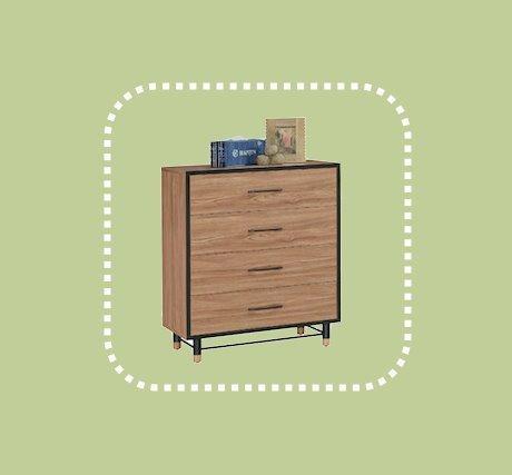 新品出清設計師款3尺置物四斗櫃 房間抽屜櫃 儲物收納櫃 1