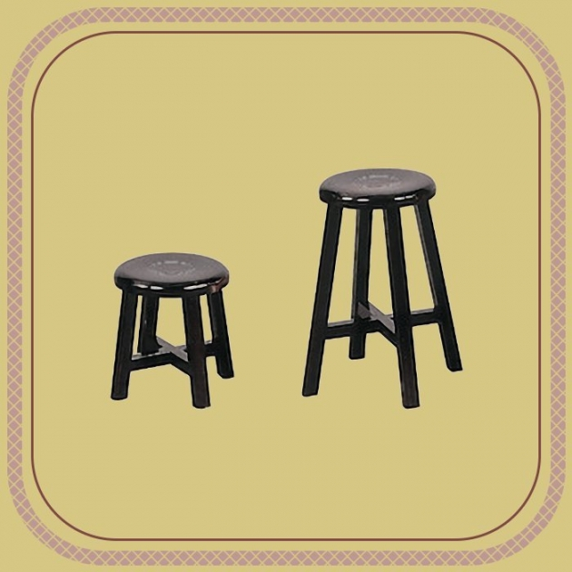 新品出清胡桃色實木矮凳 仿古椅 工作椅 吃飯椅 休閒泡茶椅 1
