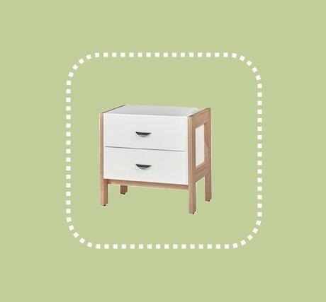 新品出清極簡白色兩抽床邊櫃 置物收納儲物抽屜櫃 1