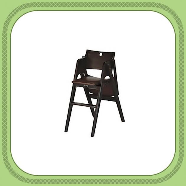 全新出清胡桃色實木寶寶餐椅 嬰兒餐椅 吃飯椅高腳餐椅 1