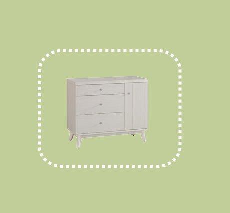 新品出清鄉村風3尺白色三斗櫃 置物收納儲物櫃 抽屜櫃 1