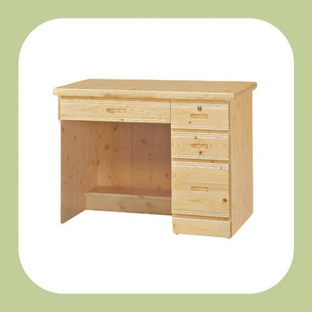 新品出清96公分松木實木四抽書桌 寫字桌 置物桌 收納桌 閱讀桌 辦公桌 1