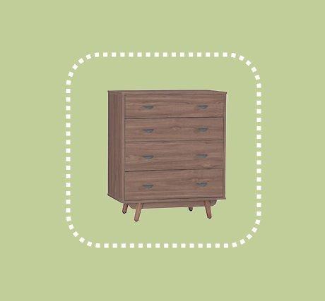 新品出清柚木色80公分四斗櫃 置物收納儲物櫃 抽屜櫃 1
