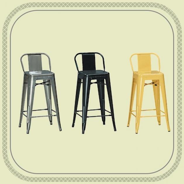 新品出清三色工業風鐵製高吧台椅 櫃台洽談椅 會客接待椅 1