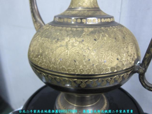 二手青銅器精雕鎏金神壺 老件擺件酒器銅壺 3