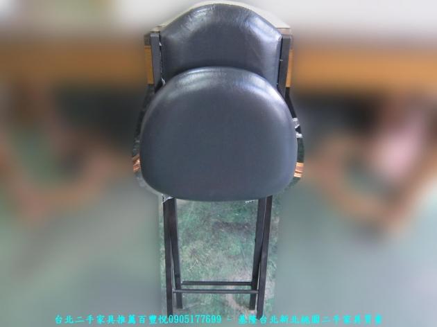 新品出清黑色37公分皮質折疊椅 中古收納椅 休閒椅 營業用椅 等候椅 接待椅 椅凳 5