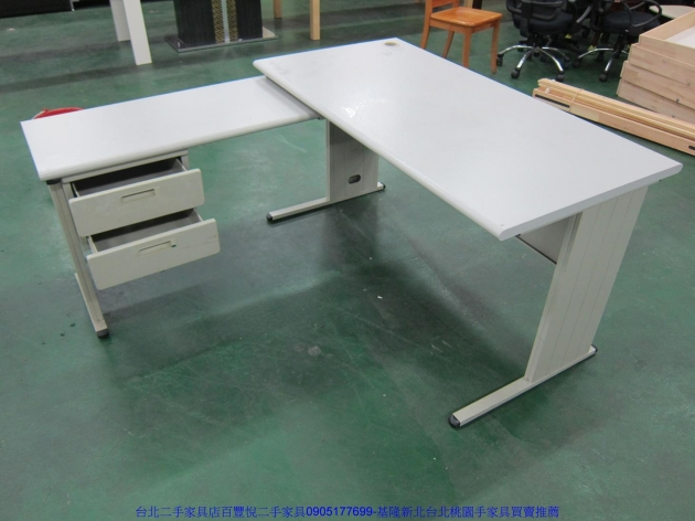 二手辦公OA140公分辦公桌 工作桌 職員桌 讀書桌 洽談桌 主管桌 寫字桌 2