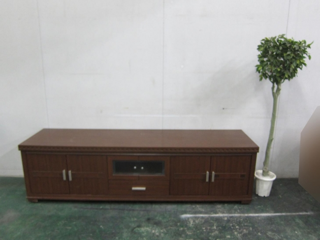 二手胡桃色212公分四門單抽客廳TV櫃 置物收納櫃 儲物櫃 邊櫃長櫃 1