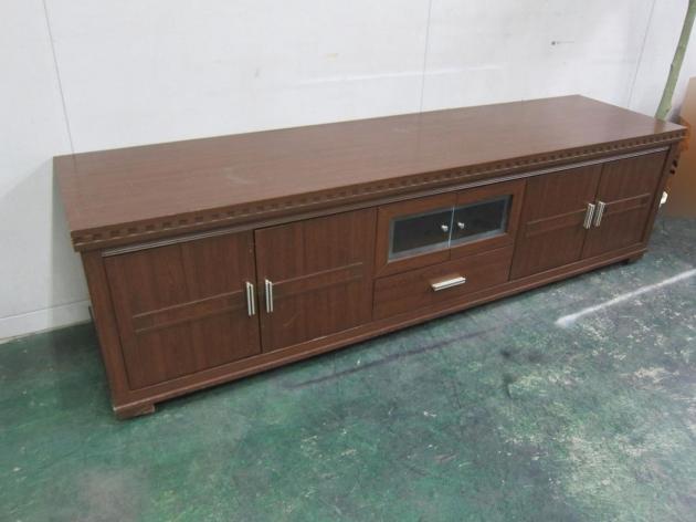 二手胡桃色212公分四門單抽客廳TV櫃 置物收納櫃 儲物櫃 邊櫃長櫃 2