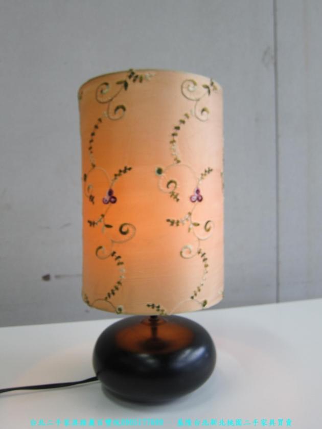 二手米色繡花燈罩藝術燈 中古床頭燈 臥室燈 客廳燈 桌燈 檯燈 台燈 2
