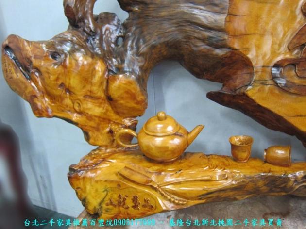 二手頂級牛樟木稀有木雕品 茶道 中古雕刻品 藝術品 擺飾品 收藏品 3