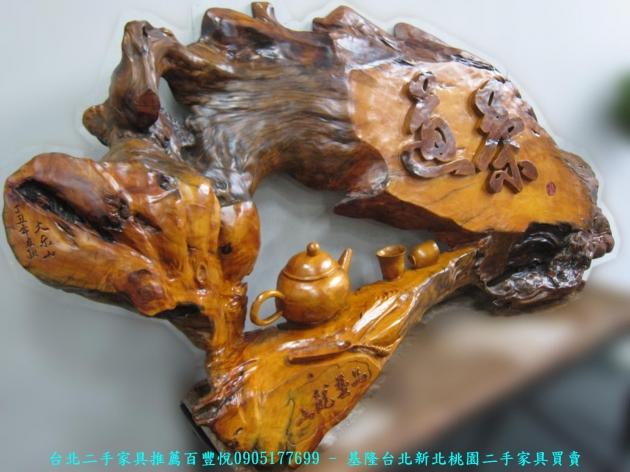 二手頂級牛樟木稀有木雕品 茶道 中古雕刻品 藝術品 擺飾品 收藏品 4