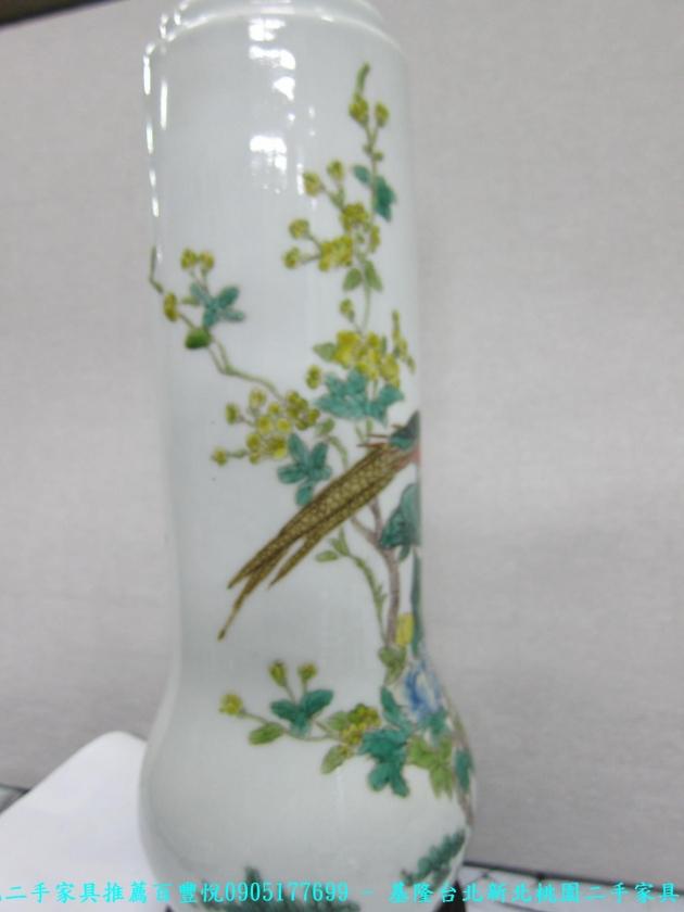 大清年製國色天香彩繪花瓶 老件瓷器擺飾品 收藏品 風水改運 3